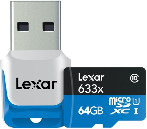 Lexar LSDMI64GBBEU633R Carte Micro SDXC Classe 10 64 Go 95Mo/s + Lecteur USB 3.0