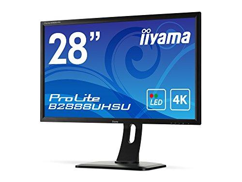 iiyama B2888UHSU-B1 71,12 cm (28 Zoll) LED-Monitor (ULTRA HD, VGA, DVI, HDMI, 1ms Reaktionszeit) schwarz