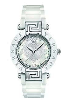 Versace Women's 92QCS1D497 S001 Reve Ceramic Bezel White Rubber Watch from Versace