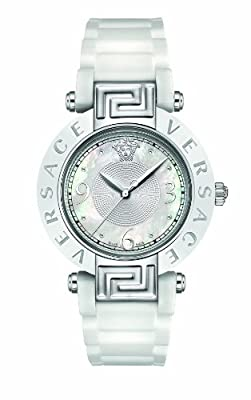 Versace Women's 92QCS1D497 S001 Reve Ceramic Bezel White Rubber Watch