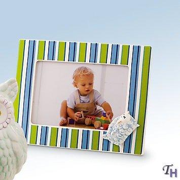 """Gorham Merry Go Round Little Boy Blue Frame Striped 5"""" X 7"""" - 1"""
