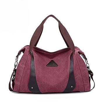 Aibag Women's Retro Casual Canvas Weekend Travel Shoulder Bag