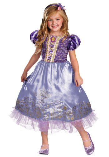 Disguise Disney's Tangled Rapunzel Sparkle Deluxe Girls Costume