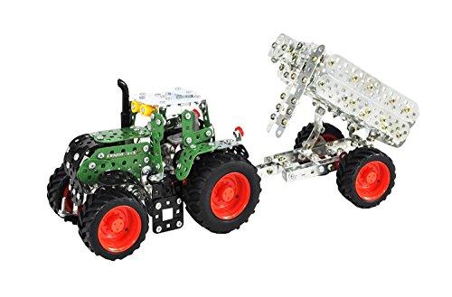 Tronico-10021-Metallbaukasten-Traktor-Fendt-313-Vario-mit-Anhnger-Mastab-132