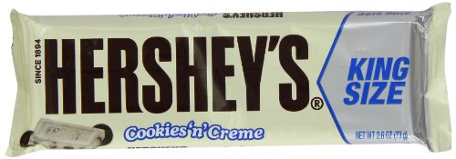 Hershey's Cookies n Cream King Size Bar 73 g (Pack of 6)