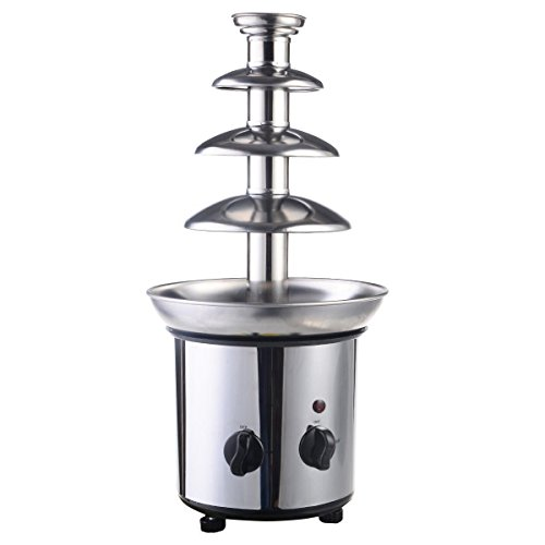 Giantex 4 Tiers Commercial Stainless Steel Hot New Luxury Chocolate Fondue Fountain (Fondue Tier compare prices)