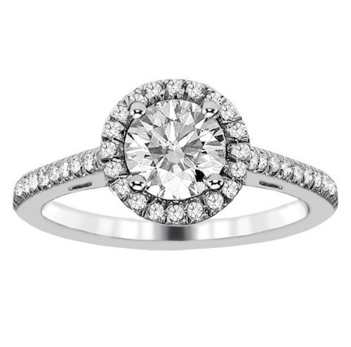 1.22 CT TW Brilliant Micro Pave Round Diamond