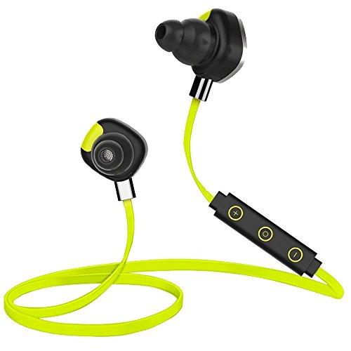 Stoga U.s.p.o. STH001 U5 intelligente Smart Bluetooth sport cuffia auricolare Earphone IPX7 impermeabile auricolari Bluetooth 4.1 Handfree chiamate musica Stereo Wireless Eardbuds cuffie per Iphone Samsung HTC Nokia-Giallo