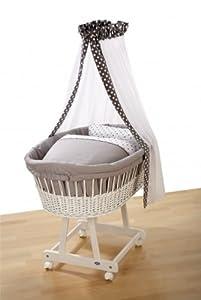 alvi set f r stubenwagen birthe dots grau 80x80 baby. Black Bedroom Furniture Sets. Home Design Ideas