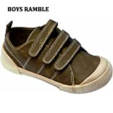 Fantastic Boys Ramble Velcro Trainers in Brown - Size 13 (Kids)