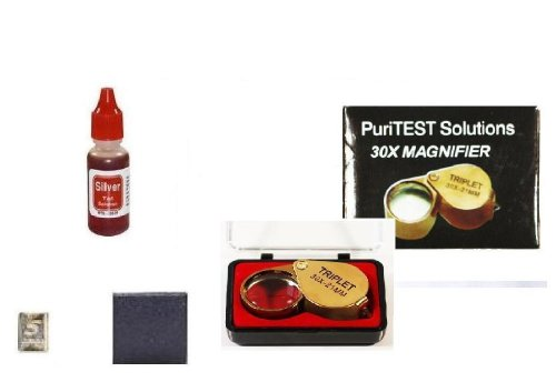 Silver Testing Education Kit with 5 Grain Silver Bar Included!