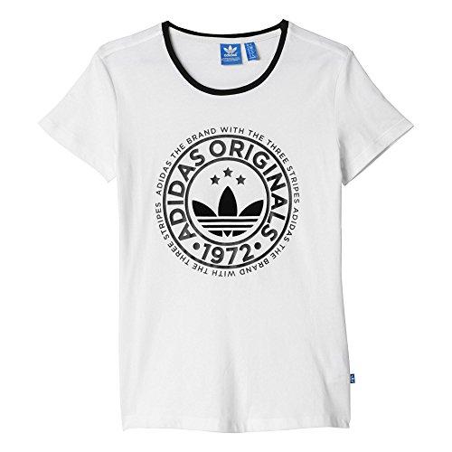 Adidas AJ7736 T-Shirt Maglia da Donna, Bianco, 44