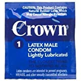 Crown Latex Condoms Lubricated 12 condoms