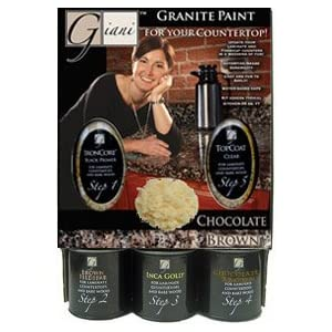 Giani Granite FG-GI CH BR KIT Sicilian Granite Paint Kit For Countertops, Chocolate Brown