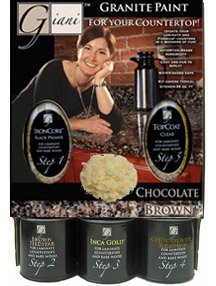Giani Granite Chocolate Brown Faux Granite Countertop Paint Kit Kitchen Bath Home Improvement