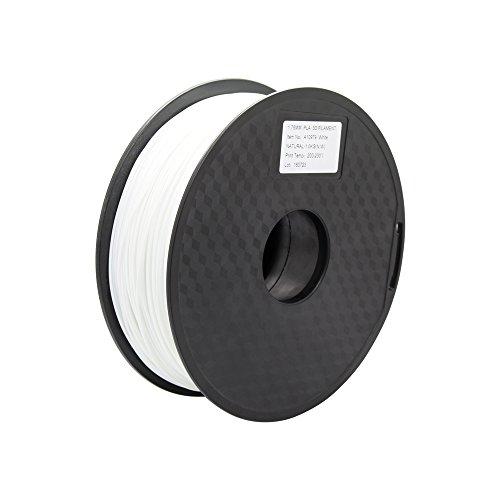 Anycubic Stampante 3D PLA Filament 1.75mm - 1kg bobina (2,2 lbs) - Precisione Dimensionale +/- 0,02mm (Bianco)