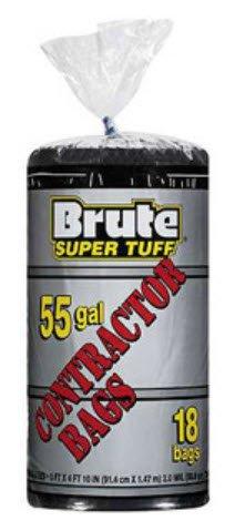 Brute Super Tuff 55 Gallon Contractor Bags - Black