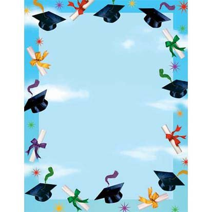 Graduation Spirit Laser Sheets 25ct