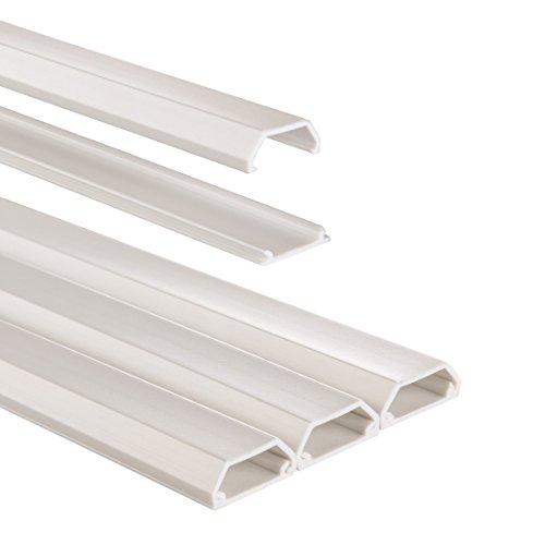 hama kabelkanal pvc halbrund 100 x 2 1 x 1 0 cm bis zu 3 kabel 3 st ck wei. Black Bedroom Furniture Sets. Home Design Ideas