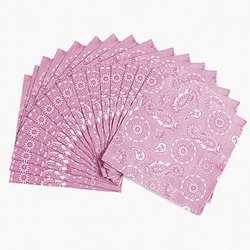 PINK COWGIRL LUNCHEON NAPKINS (16 NAPKINS)