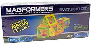 Magformers 28 Pc. Neon Blacklight Set