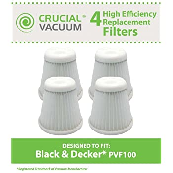Check out High Quality 4-pack Filters Fits Black & Decker Pivot Vac Model PHV1800; Compare to Black & Decker Vacuum Cleaner...