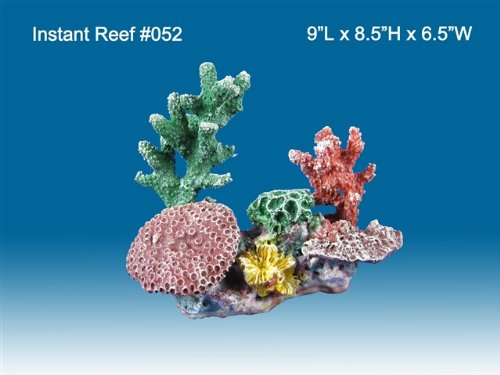 Instant Reef #052 Artificial Coral Reef Aquarium Decoration for Saltwater Fish, Marine Fish Only with Live Rock Aquarium, Coral Reef Tank, Freshwater Aquarium. Gorgeous Corals, Non-Toxic, Easy to Clean. Reef Aquarium at Saltwater Fish Only Tank costs
