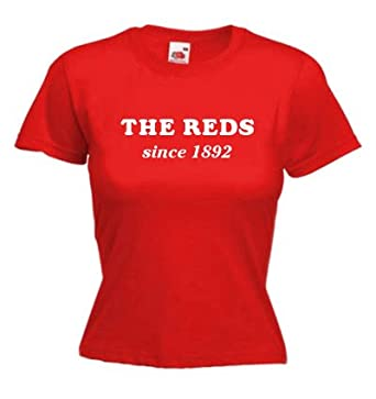 """The Reds since 1892 ladies fitted t-shirt for Liverpool fans (XS Ladyfit (30"""" Chest))"""