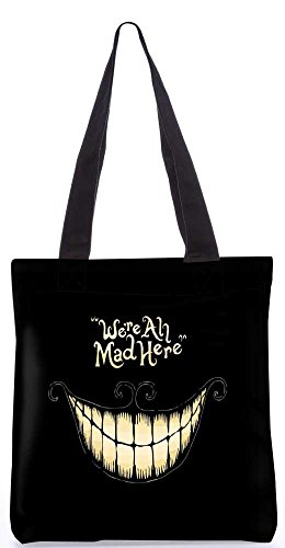 Snoogg We' re All Mad Here 34,3 x 38,1 cm Shopping Borsa Utility composizione...