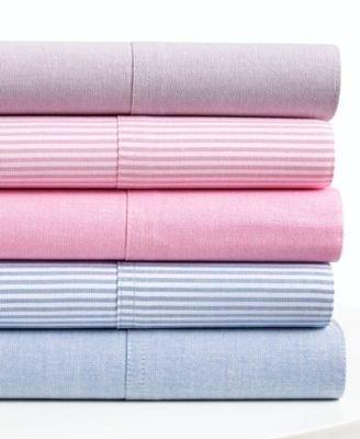 Ralph Lauren University Bedding Oxford Blue Stripe Standard Pillowcases