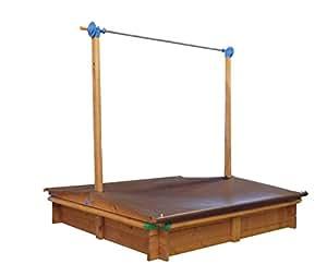 gaspo 310016 holz sandkasten mickey 140 x 140 cm mit absenkbaren dach kurbeldach. Black Bedroom Furniture Sets. Home Design Ideas