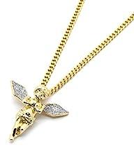 Gold Tone Silver Stardust Long Wings…