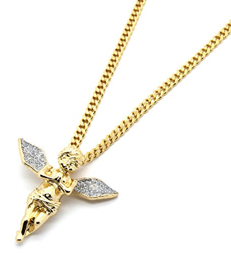 gold-tone-silver-stardust-long-wings-angel-pendant-hip-hop-with-3mm-30-cuban-chain