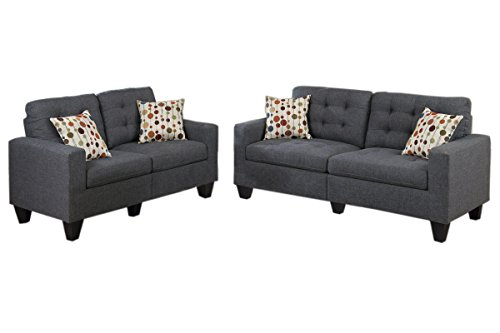 poundex-f6901-bobkona-windsor-linen-like-poly-fabric-2-piece-sofa-and-loveseat-set-blue-grey