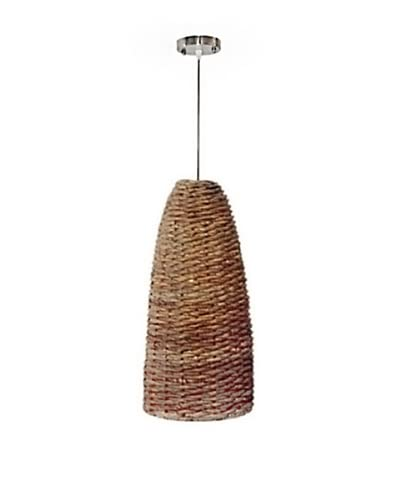Jeffan International Bella Abaca Hanging Lamp, Natural