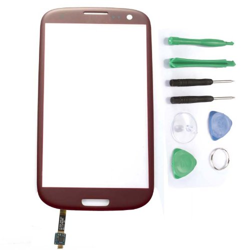 Touch Screen Digitizer Replacement For Samsung Galaxy I9300 Siii S3 L710 - Red