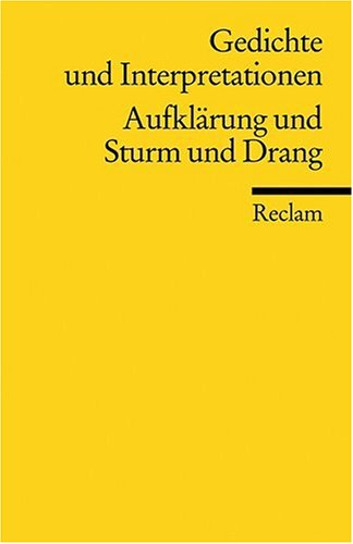 Gedichte und Interpretationen, Band 2: Aufklärung und Sturm und Drang: BD 2