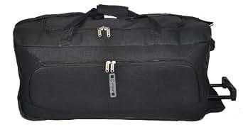 """5Cities fading Motif floral, léger 27"""" Grand Fourre-tout roulettes Trolley Valise de bagages, seulement 2,4 kg, 78 litres de capacité Grande (27, Noir 602)"""