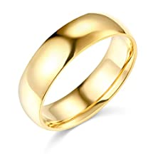 buy 14K Yellow Gold 6Mm Comfort Fit Plain Wedding Band - Size 6.5