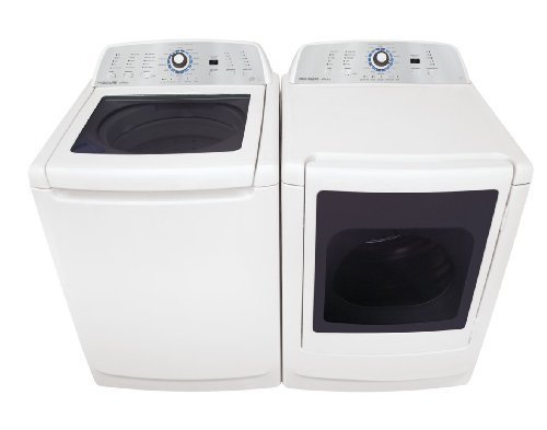 Frigidaire Laundry Bundle | Frigidaire FAHE4044MW Top-Load Washer & Frigidaire FARE4044MW Electric Dryer - White
