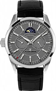 Jacques Lemans Men's 1-1596A Liferpool Moonphase Sport Analog with Moonphase Watch