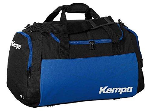 Kempa Borsa sportiva Large Nero/Royal blu 65x 31x 37,5cm, 75L (con stampa su richiesta nome)