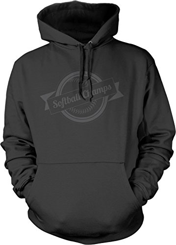 Big Texas Softball Champions (Grey) Unisex Hooded Sweatshirt, Dark Grey, XL