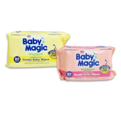 Baby Magic Gentle Baby Wipes Soft Baby & Fresh Baby Scent 80-Count (Pack of 8)