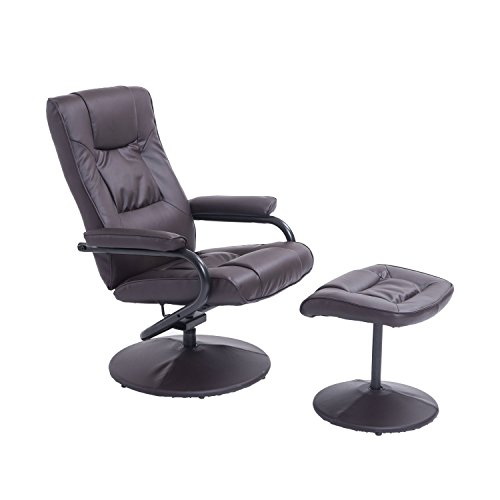 HOMCOM-Executive-Recliner-Chair-High-Back-Swivel-Armchair-Lounge-Seat-w-Footrest-Stool