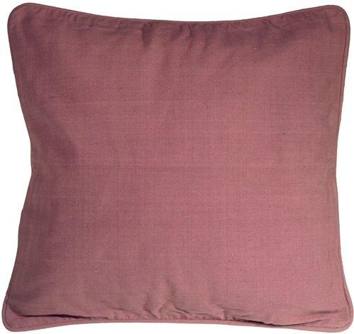 Pillow Decor - Ribbed Cotton Raspberry 18x18 Throw Pillow