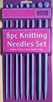 8 PEICE KNITTING NEEDLE SET. 2 X 4mm. 2 X 5mm. 2 X 6mm. 2 X 8mm. Each needle is aprox 25cm long.