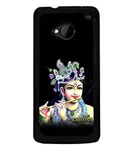 printtech Lord God Krishna Back Case Cover for HTC One M7::HTC M7