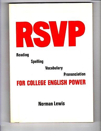 Rsvp Reading Spelling Vocabulary Pronunciation: 1
