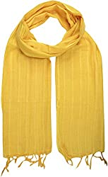 Sahiba Creation trendy and colourful women stole for all time wear(dark yellow)